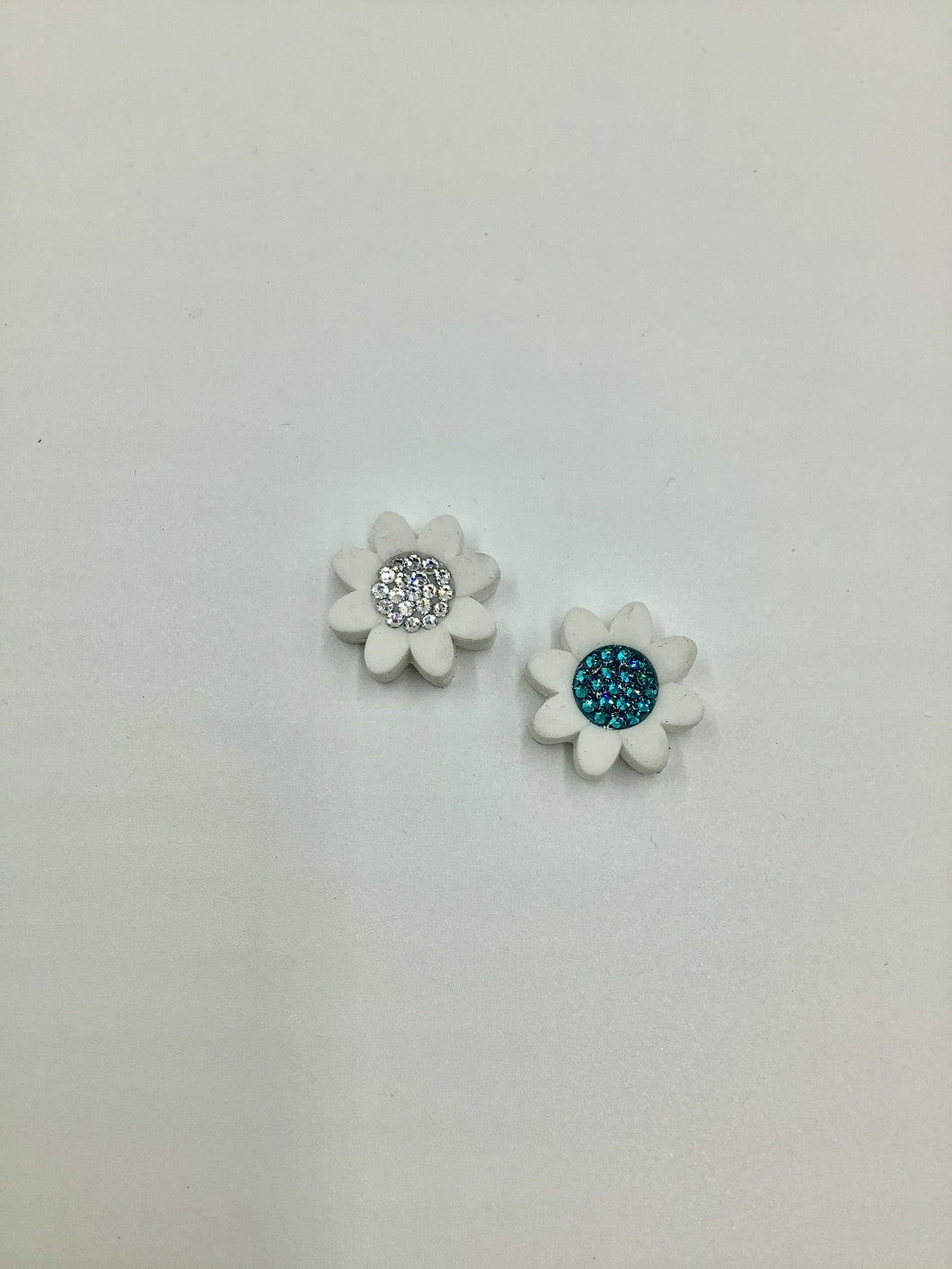 Emily Austin Dampener Flowers - Silver and Blue