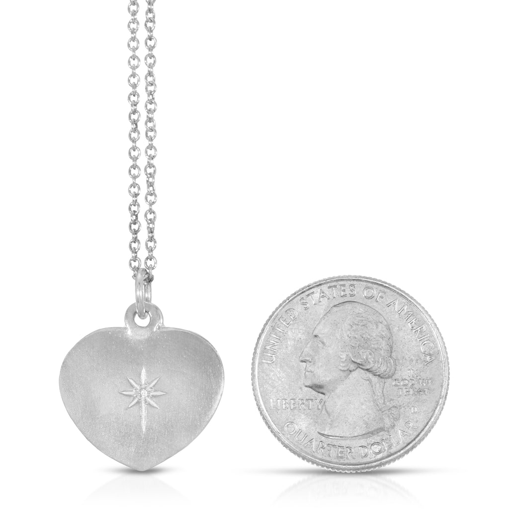 Diamond Heart Photo Locket - Sterling Silver