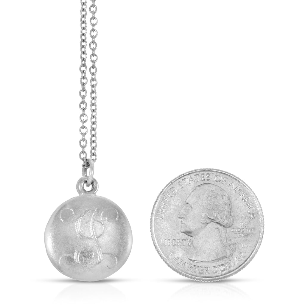 Monogram Photo Locket - Sterling Silver