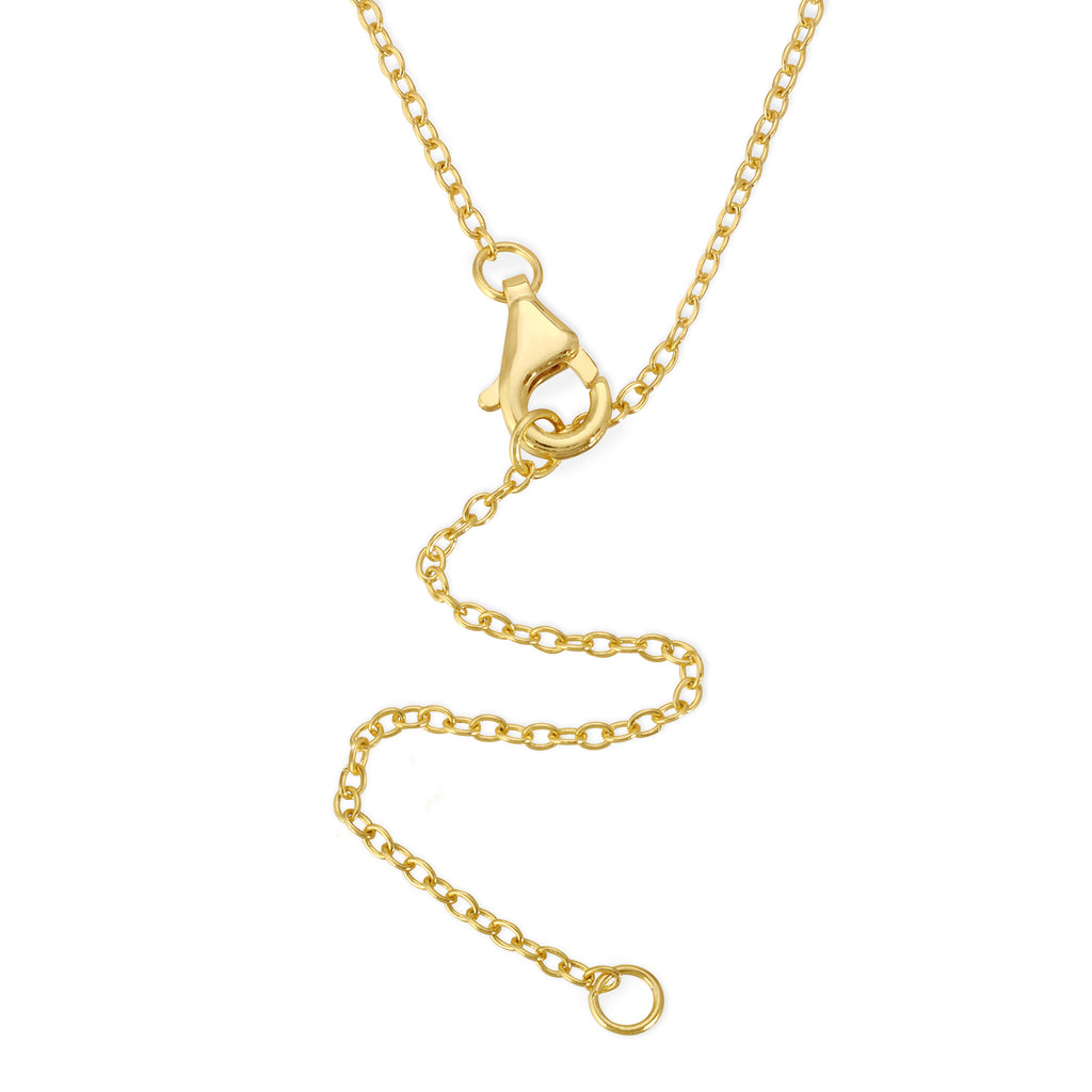 Tiny Initial Necklace - 14k Gold Vermeil