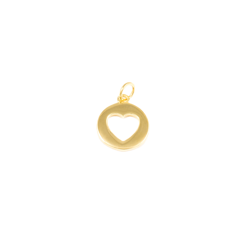 Heart Charm - 14k Gold Dipped