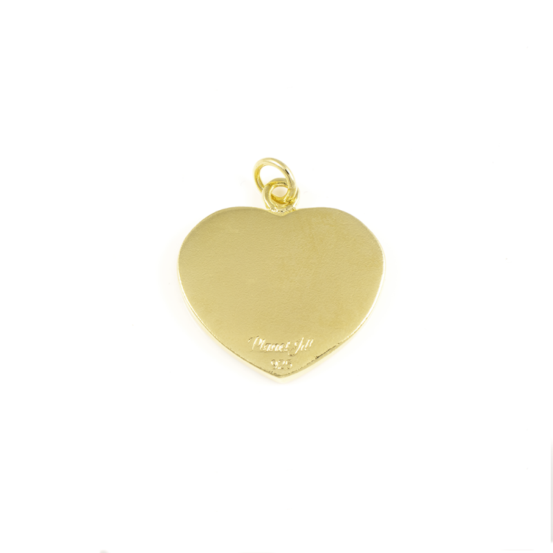 Heart Photo Charm - Nickel-Sized - 14k Gold Dipped