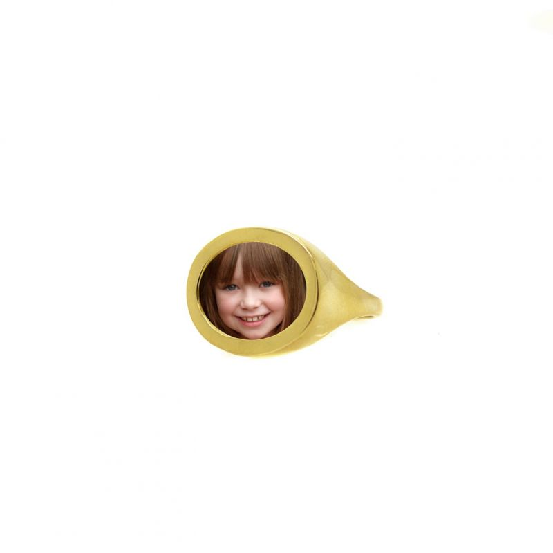 Photo Ring - Size 9 - Brass