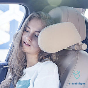 World's Most Advanced Headrest U-shaped Pillow™ - travel comfortably and safely in your car! - d-deal-depot