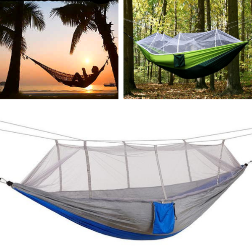 Lightweight Portable Camping Hammock With Mosquito Net