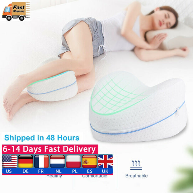 Memory Cotton Leg Pillow Sleeping Orthopedic Sciatica Back Hip Joint Pain Relief Thigh Leg Pad Cushion Home Memory Foam