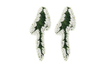 Amora Earrings Green and White