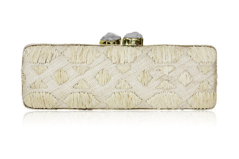 Aurora Raffia Clutch Natural