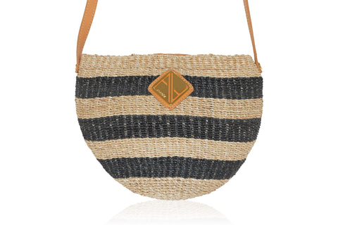 Carrie Sling Natural and Black Stripes