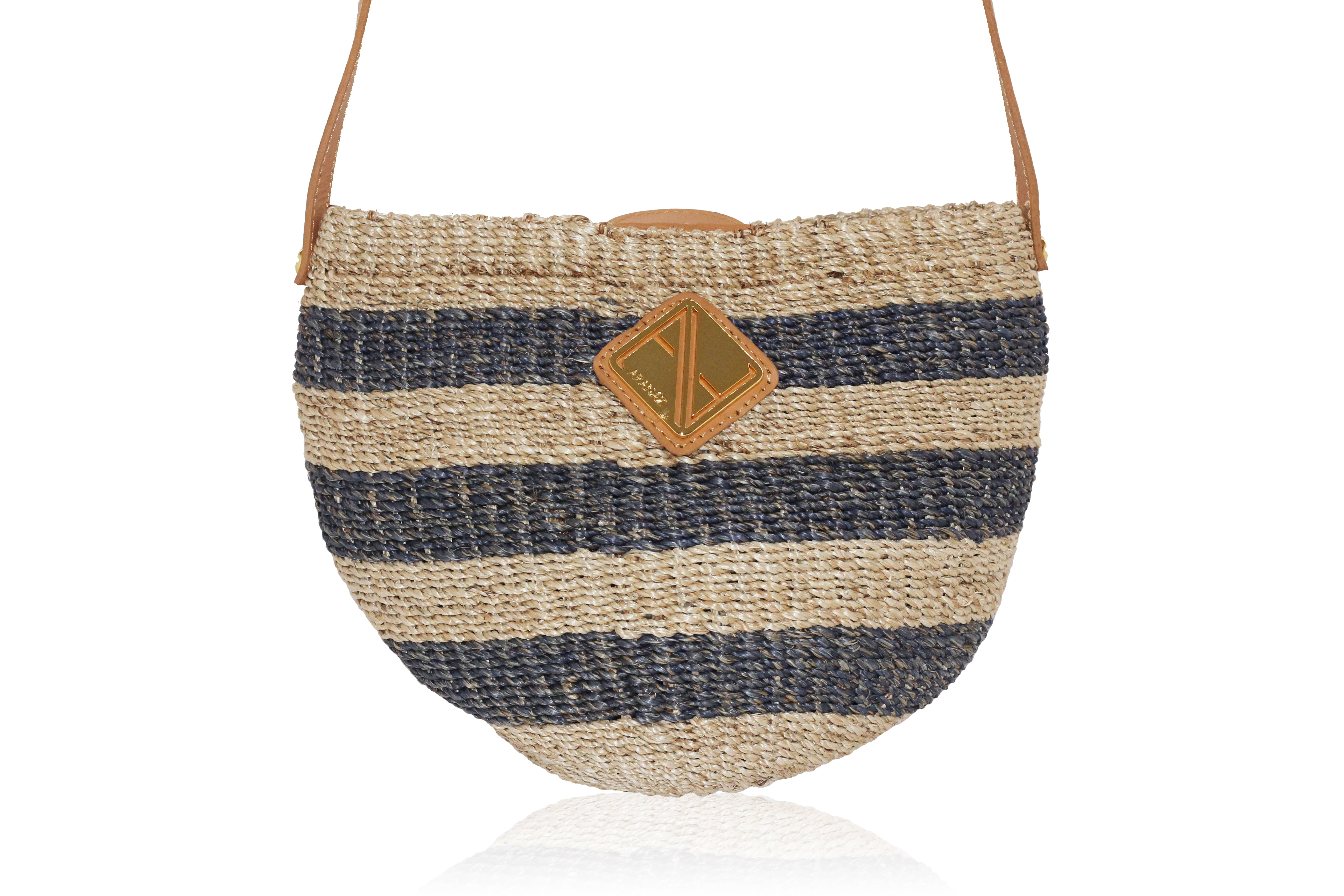 Carrie Sling Natural and Navy Stripes