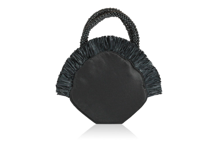 Clam Satin Handbag
