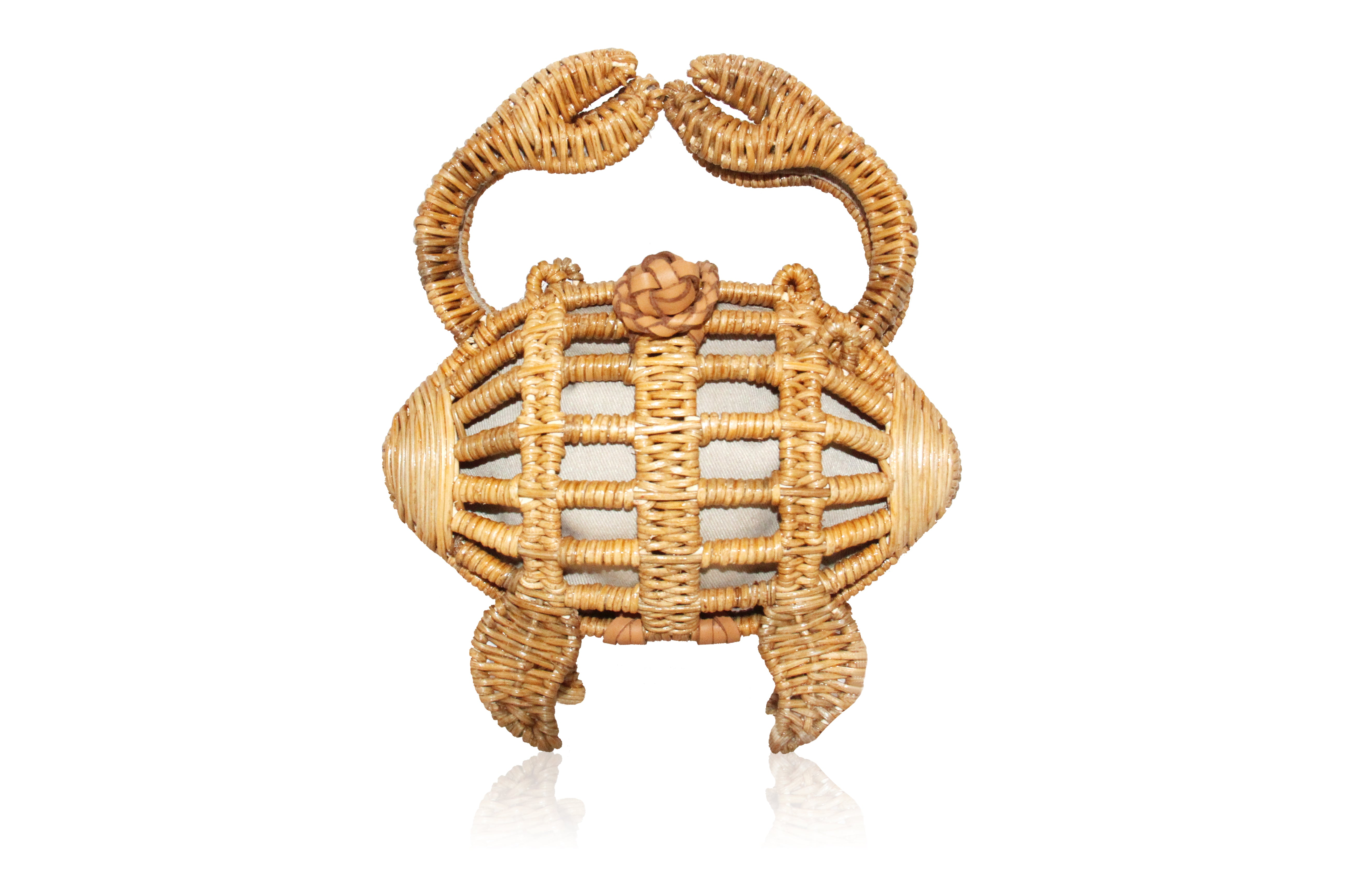 Crab Wicker Clutch