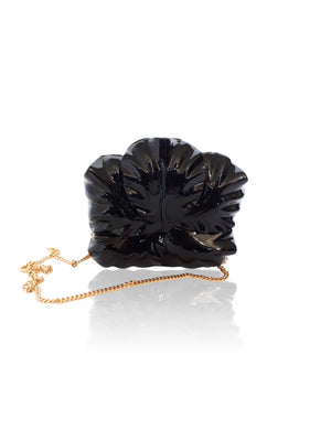 Gumamela Clutch Black