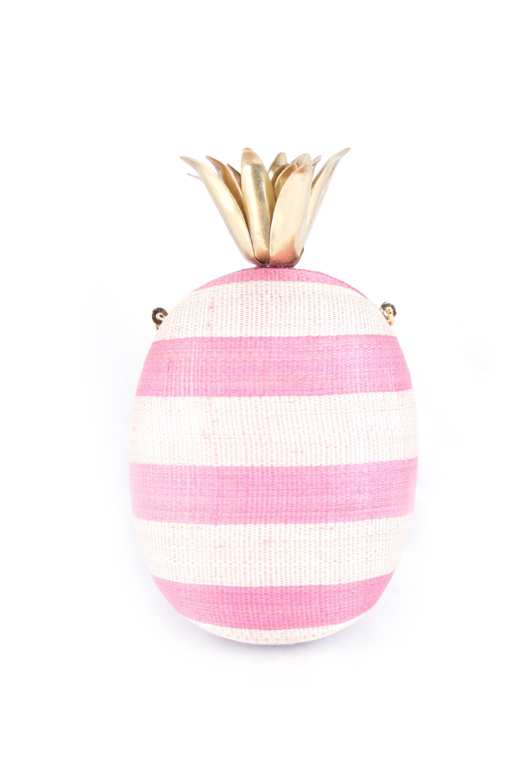 Piña Tinalak Pink Stripes with Brass Crown