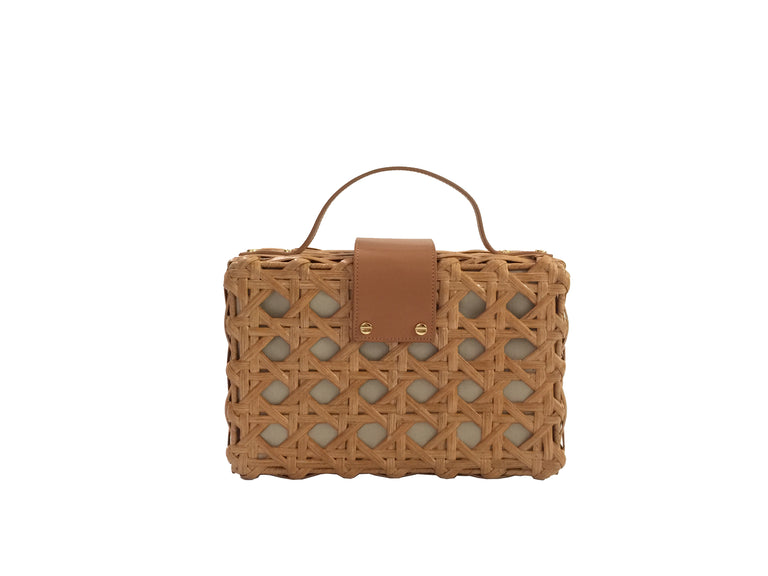 Charlie Satchel Natural with Tan Leather
