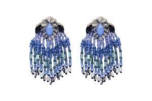Tassel Earrings Blue