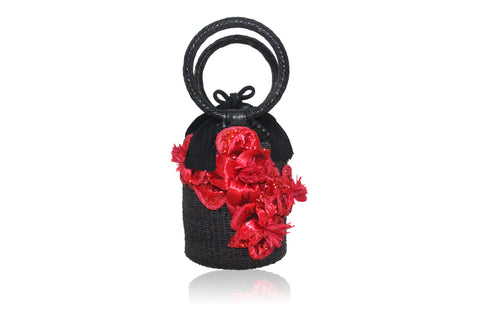 Alexa Evening Bag-Red/Black