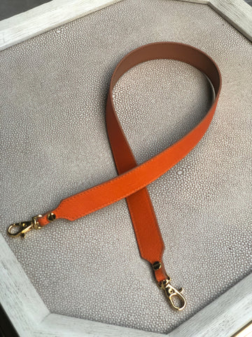 "Pop Strap 1"" Neon Orange/Tan"