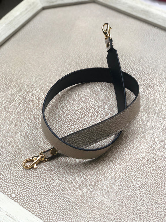 "Pop Strap 1"" Taupe & Black"