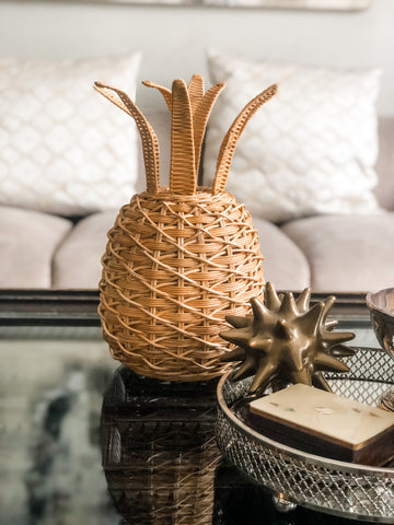 Wicker Pineapple Table lantern (large) PREORDER