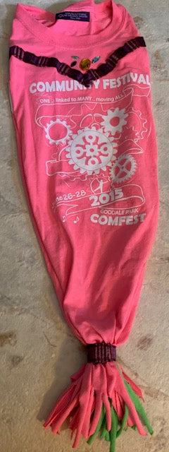Hand-Crafted T-shirt ComFest Hat - One of a kind!