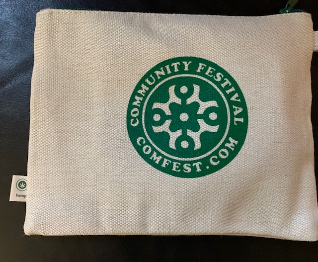 ComFest Hemp Zippered Pouch