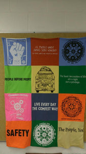 Hand-sewn ComFest T-shirt quilt - Assorted Colors 3X4