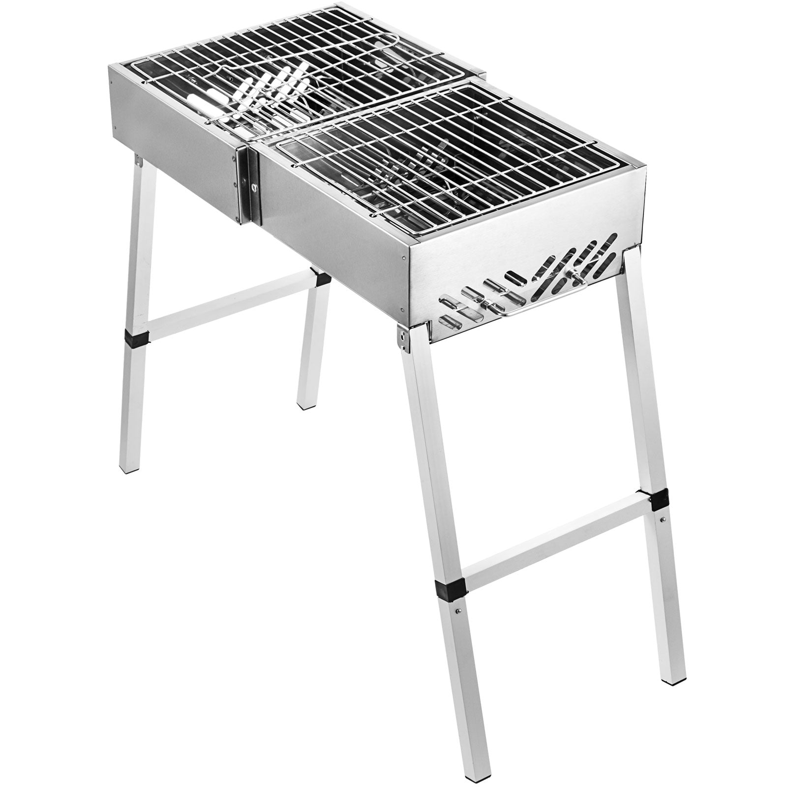 Barbecue à Charbon Pliable Grille Portable Bbq Table Charbon Inox Jardin