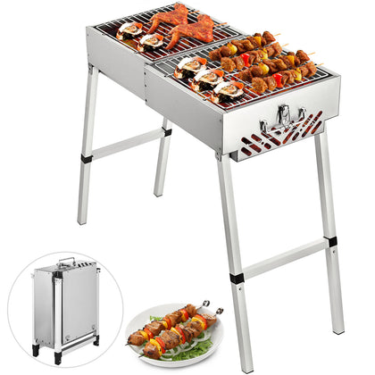 Folding BBQ Charcoal Barbecue Grill 24''