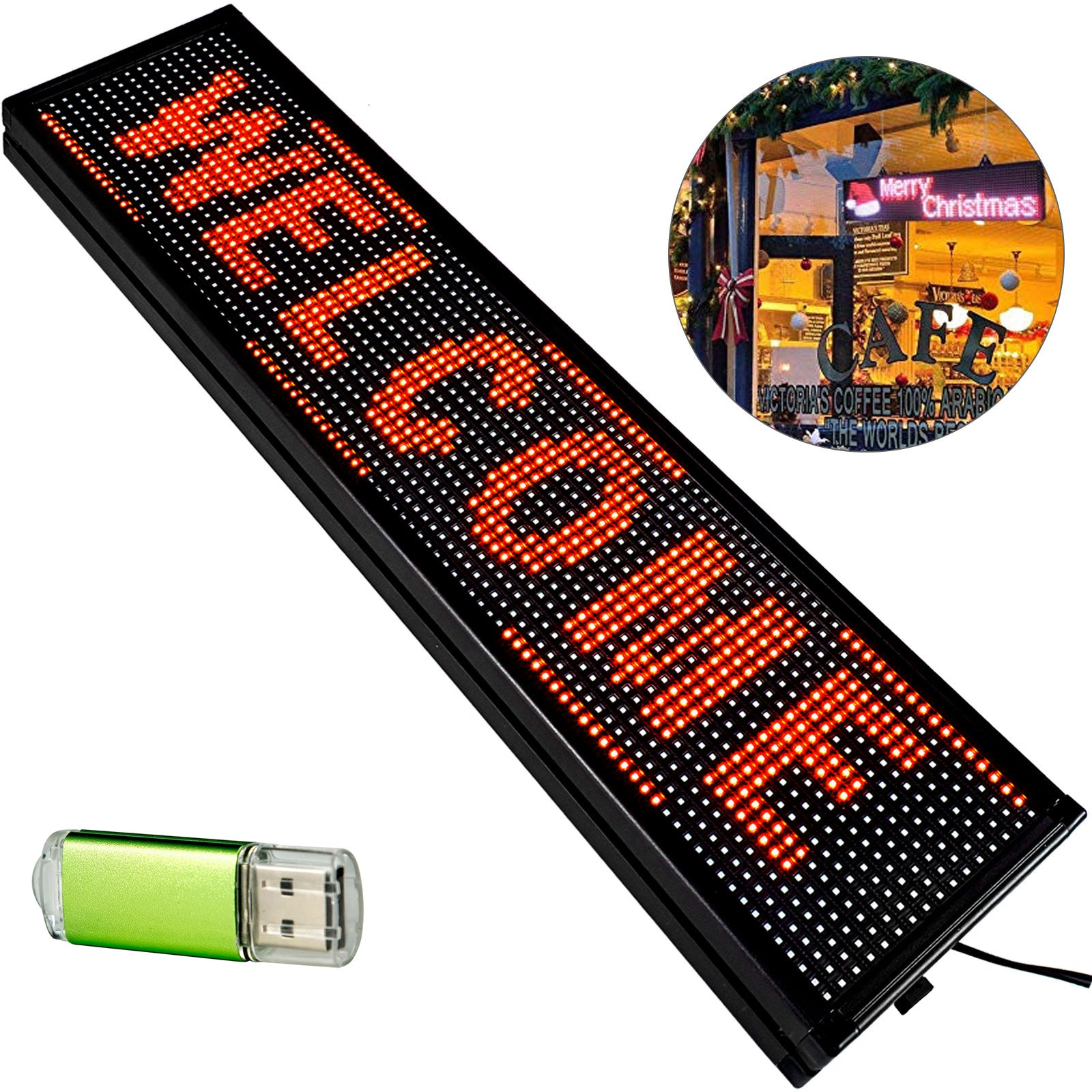 Rouge Programmable Led Défilement De Texte émouvant Message Signe Board Display
