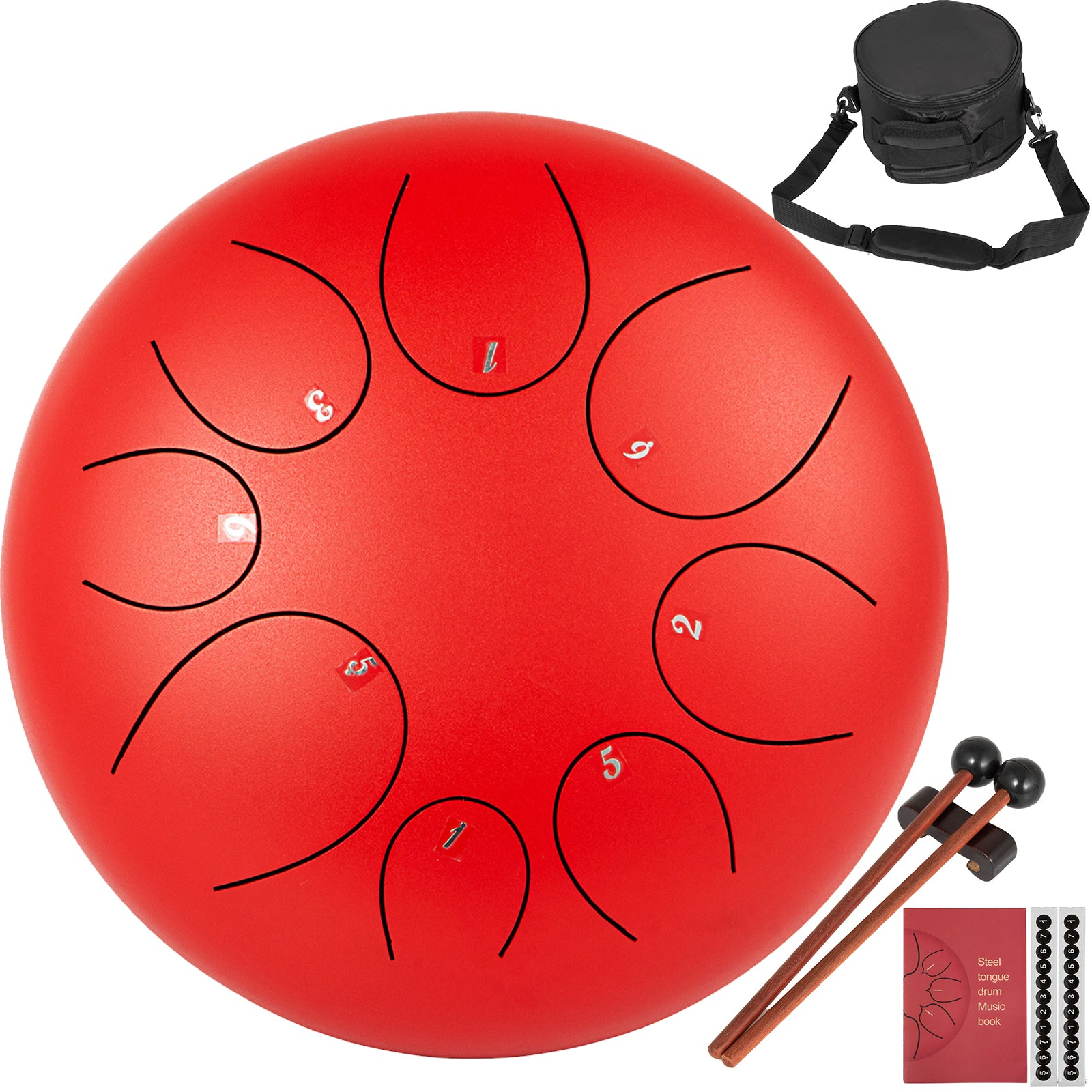 "8"" Handpantambour à Languette Tongue Drum 8 Notes Alliage Acier-titane F Tune"