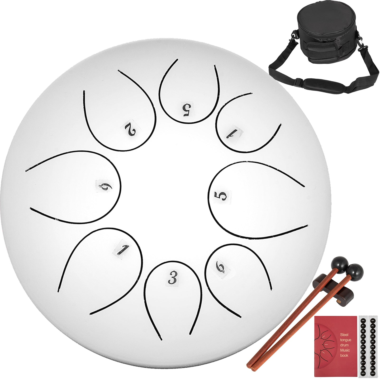 10'' Handpan Tambour à Languette 8 Notes C Majeur Instrument De Percussion Amis