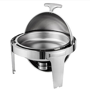 Set 2 X Chafing Dish Réchaud Dish Rouleau Rond Tray Buffet Professionnel