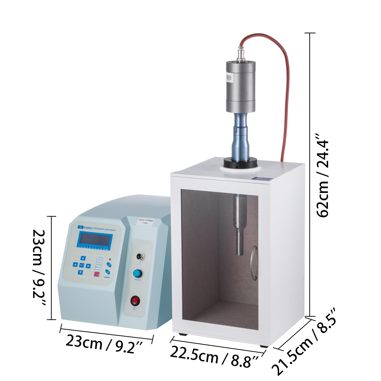 Sonicator D'homogénéisateur à Ultrasons 20-500ml 0-120℃ Cell Disruptor Mixe
