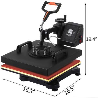 Presse à Chaud 8 En 1 Multifunction Digital T-shirt Heat Press 1800w