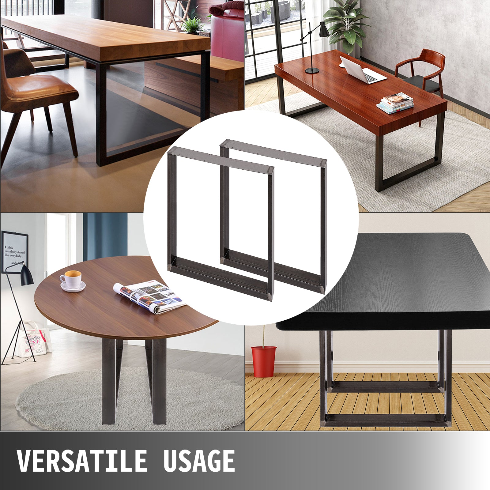 2x Pieds De Table Rectangulaire 40 X 43 Cm Table De Café Moderne Banc Café Banc