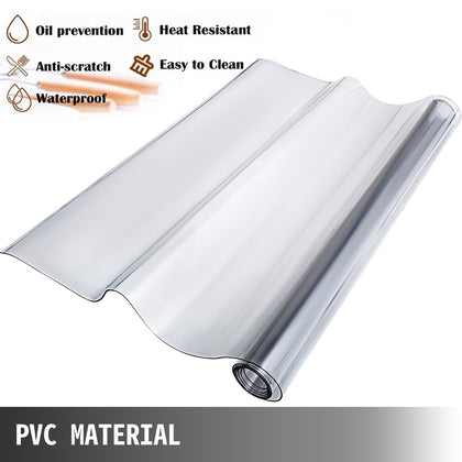 Nappe Transparente en PVC Écologique 1,5mm 229x112cm Protection de Table