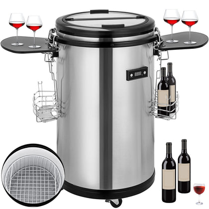 Stainless Steel Party Cooler Fridge 50L