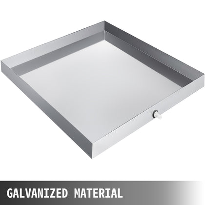76x81cm Washing Machine Drip Pan Galvanized Steel Tool Tray Smooth Durable