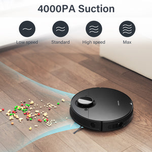 VEAVON Robot Vacuum V8, Lidar Navigation Smart Mapping 4000Pa Strong Suction