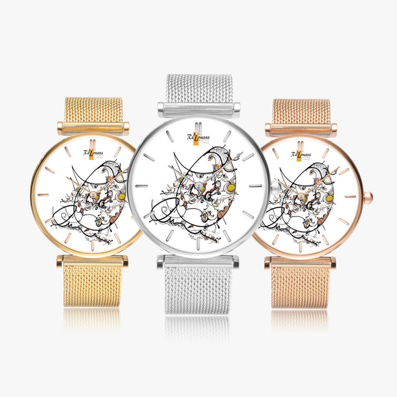 Montre quartz fashion ultra mince