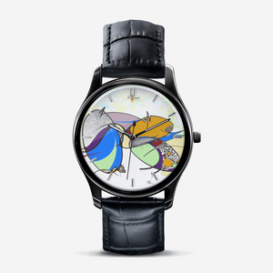 "Montre cuir ""Yolcolored"" (avec indicateurs)"