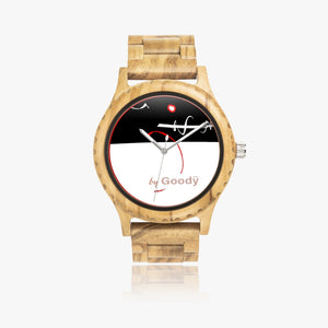 "Montre bois naturel ""Lignerouge"""