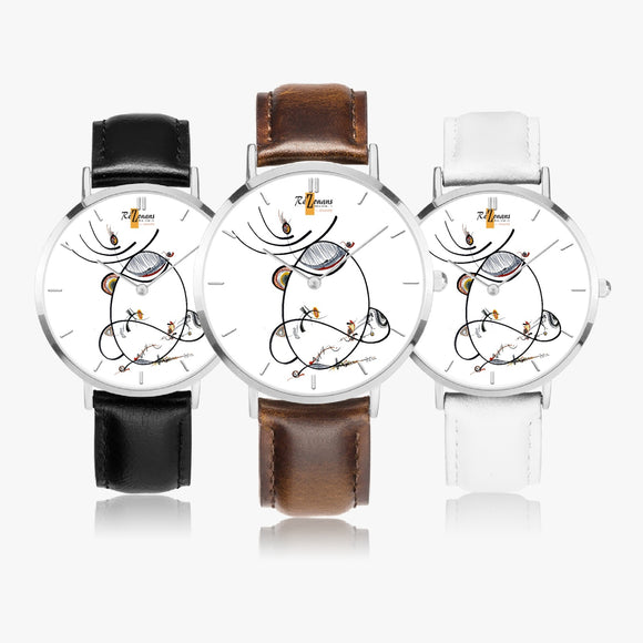 Montre quartz ultra plate