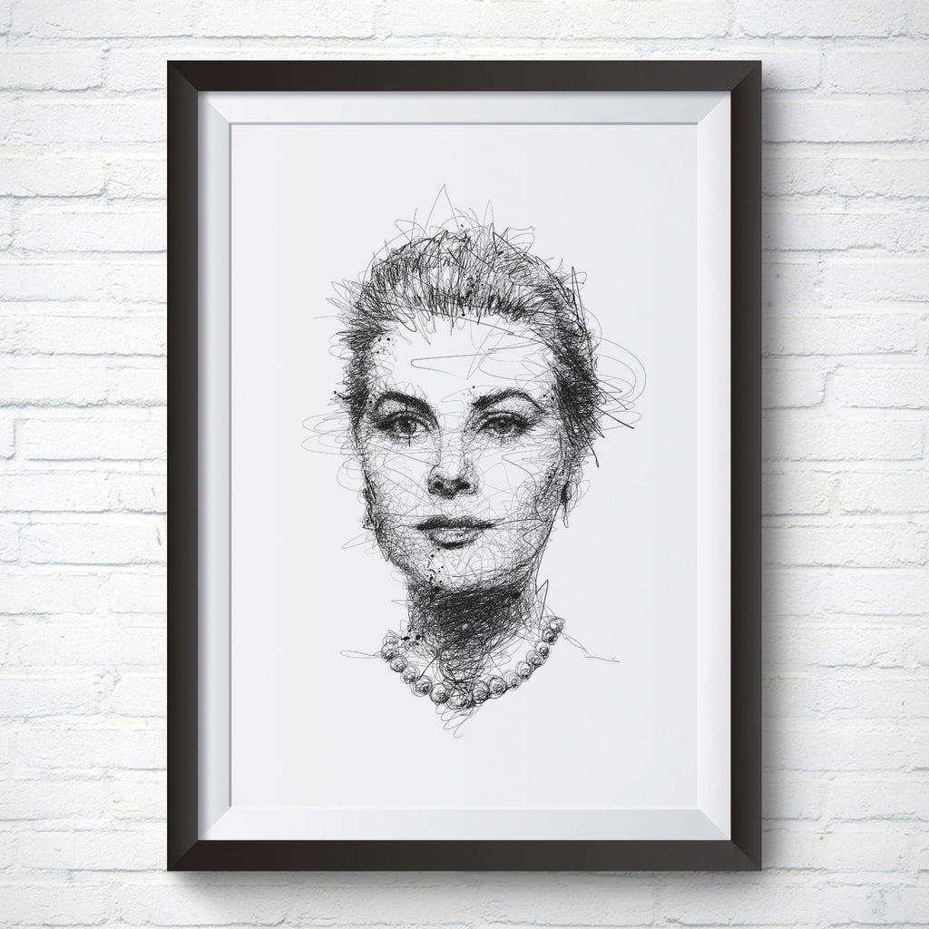 A4 / A3 Art Print – Princess Grace by Vince Low