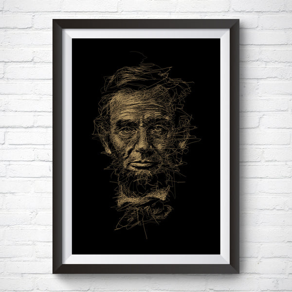 A3 Art Print – President Lincoln by Vince Low