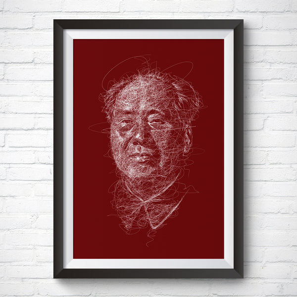 A3 Art Print – Chairman Mao by Vince Low