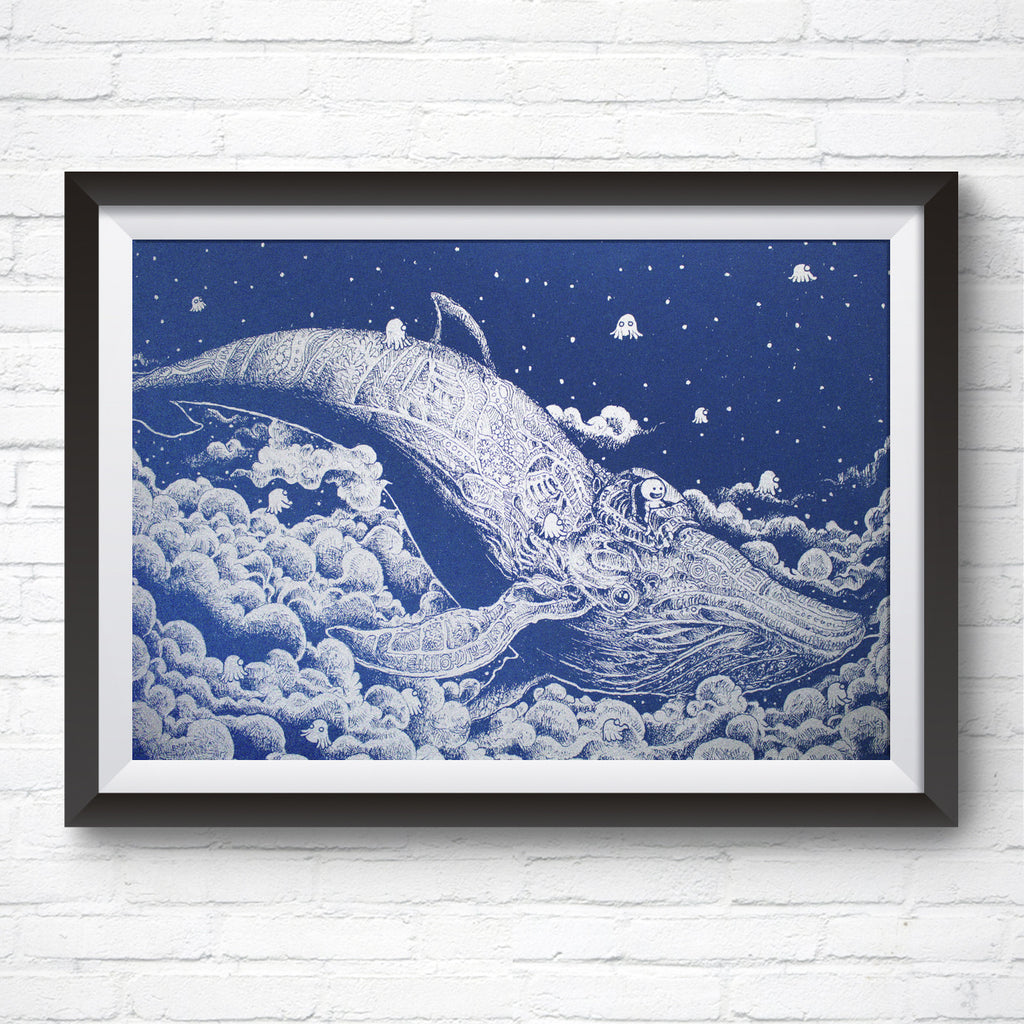 A3 Art Print – Night Whale by Kerby Rosanes