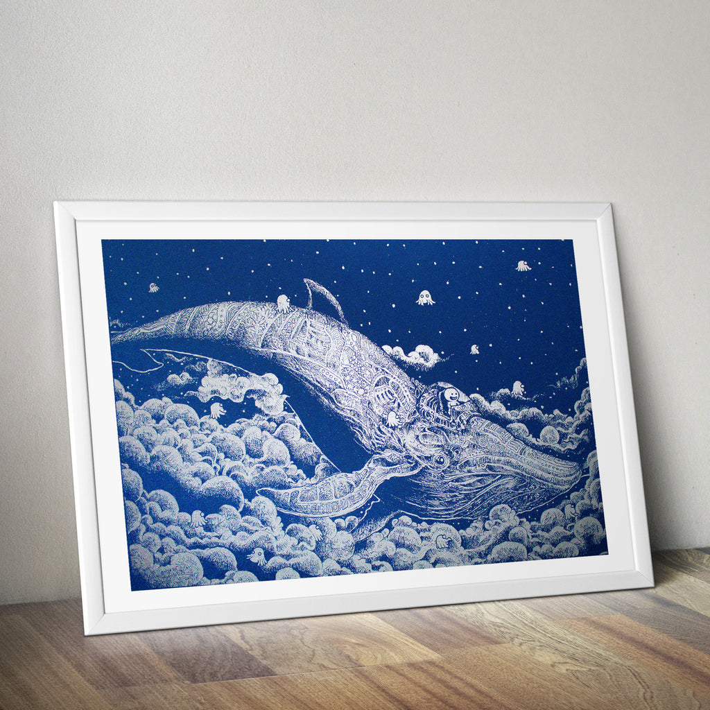 A2 size Art Print – Night Whale by Kerby Rosanes