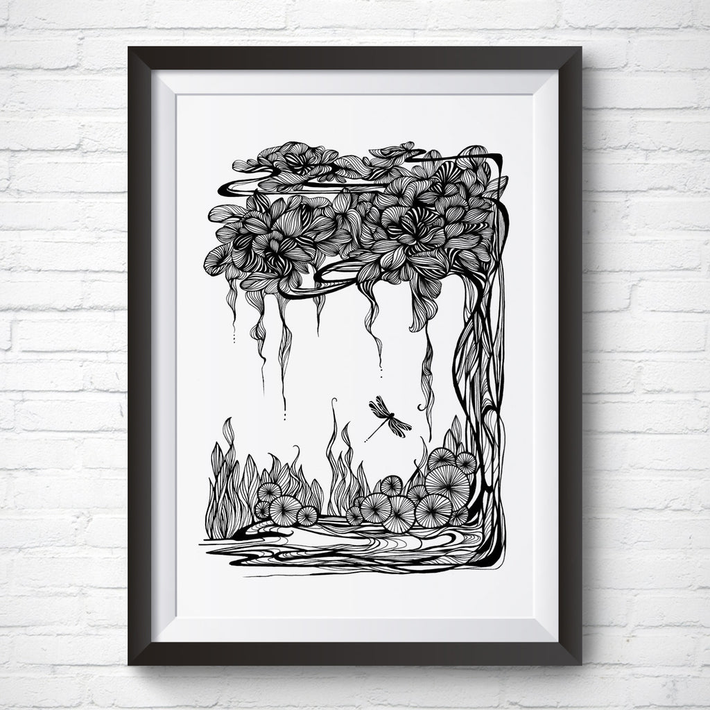 A4 / A3 Art Print – Whispering Willow by Peisy Ting